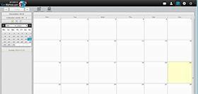 EuroBizHost email - webmail screen shot - calendar